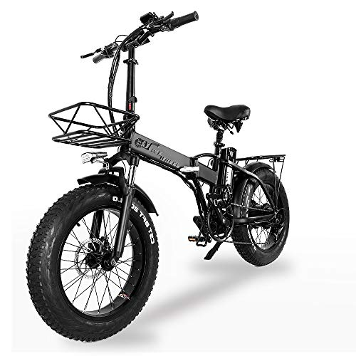 XXCY Pieghevole Bici elettrica 500 w e-Bike 20'* 4.0 Pneumatico Grasso 48v 15ah Batteria Display LCD...