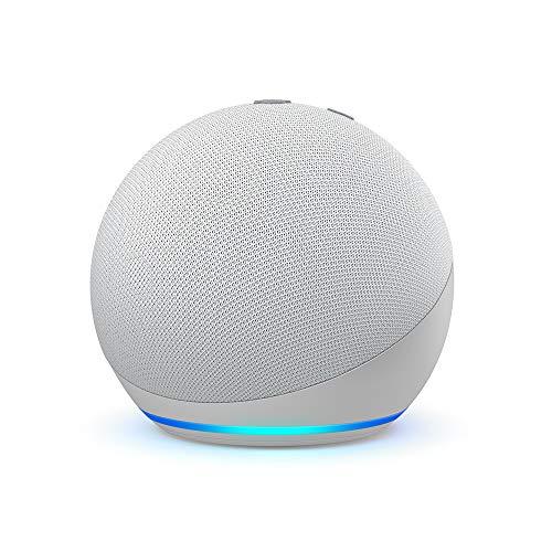 Echo Dot (4. Generation), Zertifiziert und generalüberholt, Weiß   Smarter Lautsprecher mit Alexa