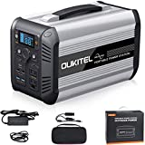 OUKITEL Portable Power Station CN505, 614.4Wh Lithium Iron Phosphate Battery 2 x 110V/500W Pure Sine Wave AC Outlet Solar Generator (Solar Panel Not Included) Outdoors Camping Travel Hunting Emergency (Black)