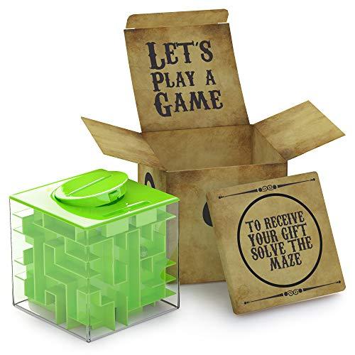 AGREATLIFE Knobel Spardose für Kinder - Geldgeschenke Verpackung - Magische Rätselbox - Money Maze...