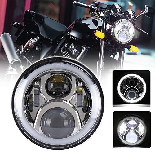 MOVOTOR 7インチ CB400SF ヘッドライト DRL機能 イカリング付き オートバイCBシリーズに装着 ハイ/ロービーム クローム 1個