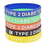 Kesheng Lot de 5 bracelets d'alerte médicale en silicone