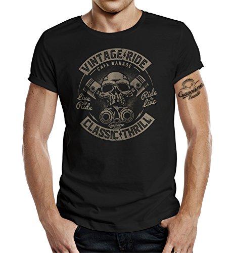 GASOLINE BANDIT Original Diseno Biker Shirt: Vintage Ride Classic Thrill-M