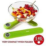 Tatkraft Compact – Balance de Cuisine Electronique Pliante 5 kg –...