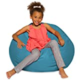 Posh Beanbags Bean Bag Chair, Large-38in, Heather Teal