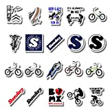 20 PCS Stickers Pack Sunday Aesthetic BMX Vinyl Colorful Waterproof for Water Bottle Laptop Bumper Car Bike Luggage Guitar Skateboard