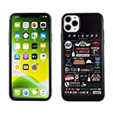 iPhone 11 Pro Max Case Friends Anti-Scratch Shock Proof Case Soft Touch Slim Fit Flexible TPU Bumper Case Cover with Raised Bezels for iPhone 11 Pro Max 6.5 inch