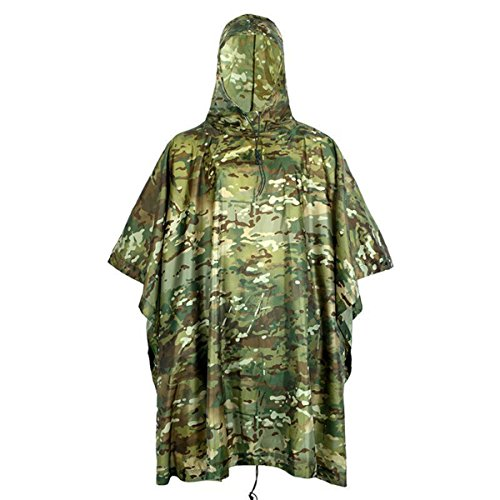 Extérieure Militaire Voyage Camouflage Imperméable Poncho Sac À Dos...