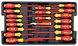 Wiha 32095 Slotted and Phillips Insulated Screwdriver Set, 1000 Volt, 19 Piece