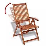 mewmewcat 7-TLG. Akazienholz Gartenmöbel-Set Holz Essgruppe Gartengarnitur Sitzgruppe - 4