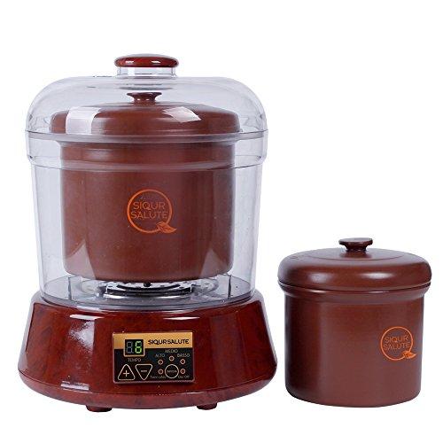 siqur salute Sistema Cottura Automatico cotture Lunghe a bagnomaria in Ceramica ZISHA, Naturale, Antiaderente, Nichel Free