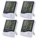 eSynic 4 Morceaux LCD Digital Hygromètre Thermomètre Intérieure Contrôle...