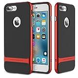 "iPhone 7 Plus ケースPinhen Rock iPhone 7 Plus 携帯ケース カバー ステント 携帯保護カバー 衝撃吸収バンパー 擦り傷防止 クリアバック アップルアイフォン7 Plus 5.5""インチ用 (iPhone 7 Plus Red)"