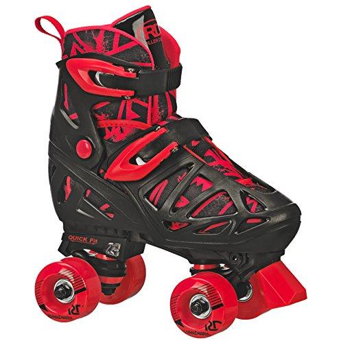 Roller Derby Boy's Trac Star Adjustable Roller Skate, Medium