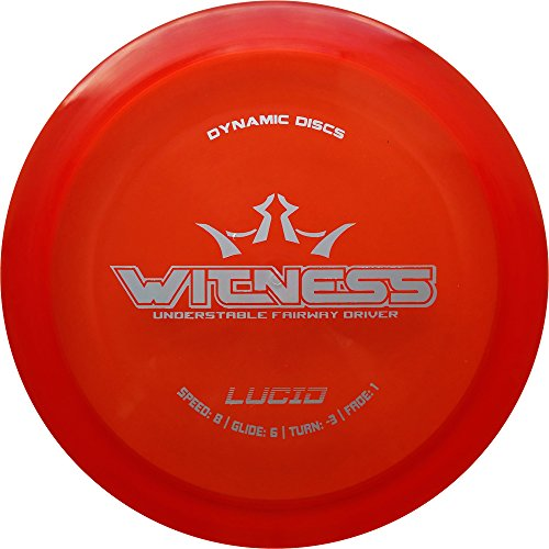 Dynamic Discs Lucid Witness Fairway Driver Golf Disc [Colors May Vary] - 173-176g