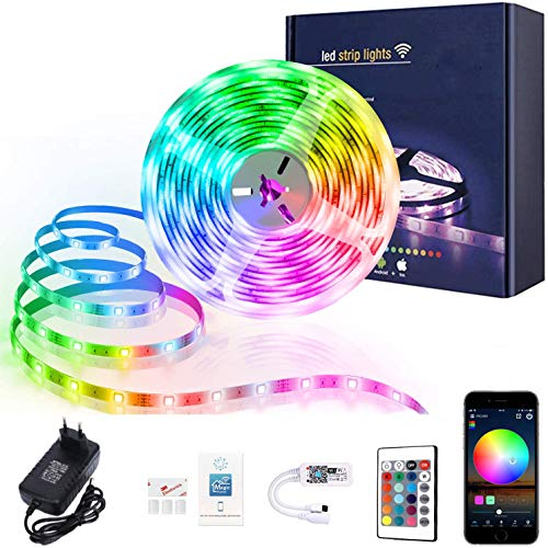 XERGY Led Strip Lights with Power Supply Color Changing 5050 RGB 150 LED's Rope Light Strips Kit for...