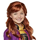 Disney Frozen 2 Anna Wig, 18' Long Flowing Red Hair with Braid Detail for Girls Costume, Dress Up or Halloween - For Ages 3+