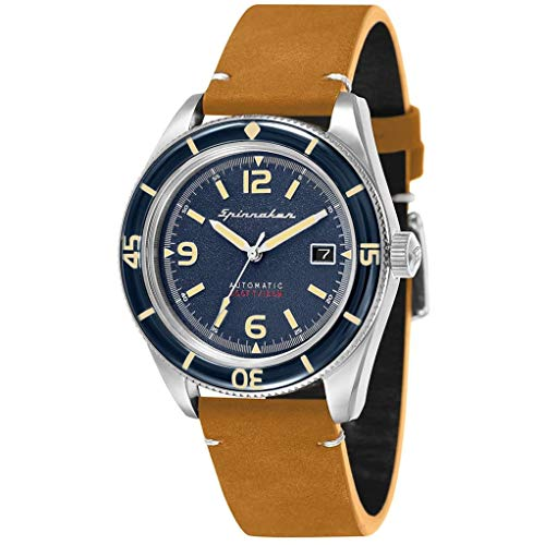 SPINNAKER Fleuss Herren-Armbanduhr 43mm Armband Leder Automatik SP-5055-05