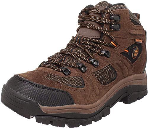 Nevados Men's Klondike MID Waterproof Hiker-M, Earth Brown/Black/Tigerlily Orange, 10.5 M US
