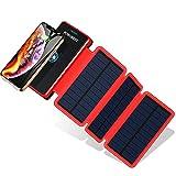 POWOBEST Chargeur Solaire Batterie Externe 20000mAh Power Bank Portable Étanche avec Chargeur à...