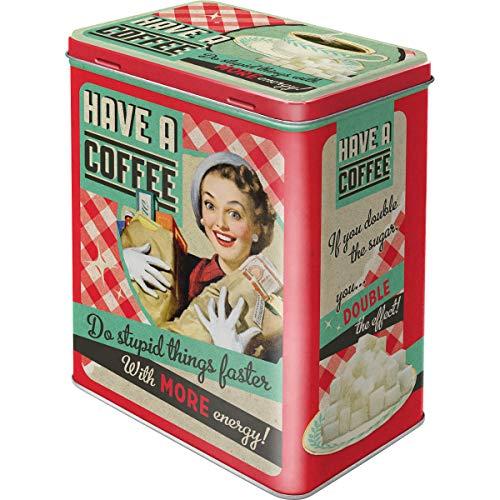 Nostalgic-Art Caja de Almacenamiento Retro L Have A Coffee – Idea de Regalo para Aficionados a Nostalgia, Lata Grande de café, Diseño Vintage, 3 l