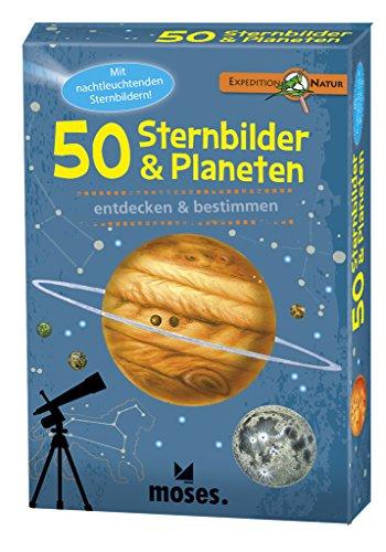 Moses 9740 Expedition Natur - 50 Sternbilder und Planeten| Bestimmungskarten im Set | Mit spannenden...