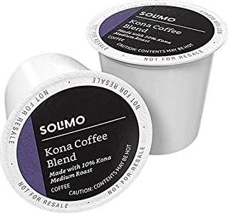 Amazon Brand – 100 Ct. Solimo Medium Roast Coffee Pods, Kona Blend, Compatible with..
