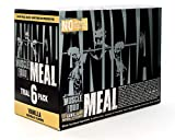 Animal Meal - All Natural High Calorie Meal Shake - Egg Whites, Beef Protein, Pea Protein, Vanilla, 6 Serving Box