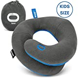 BCOZZY Kids Chin Supporting Travel Pillow- Keeps The Child's Head from Bobbing up and Down in Car Rides- Comfortably Supports The Head, Neck, and Chin in Any Sitting Position. Machine Washable. Gray