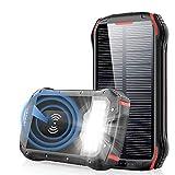 Batterie Externe 26800mAh Chargeur Solaire Portable QI...