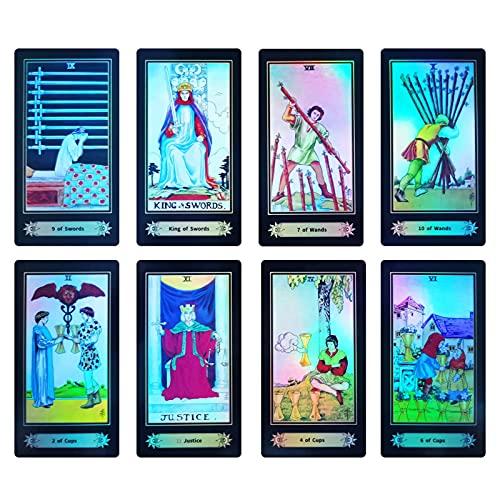 Tarot Cards, Rider Waite Tarot Cards,78 Holographic Tarot...