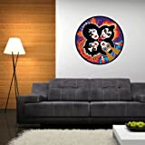 KISS Rock'n'Roll Over Wall Graphic Decal Sticker 22' x 22'