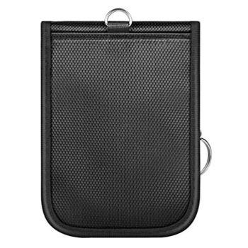 BESPORTBLE Car Key Signal Blocker Pouch Case RFID Signal Blocking Bags Faraday Key Fob Protector Bags Round Keys Storage Pocket Holder