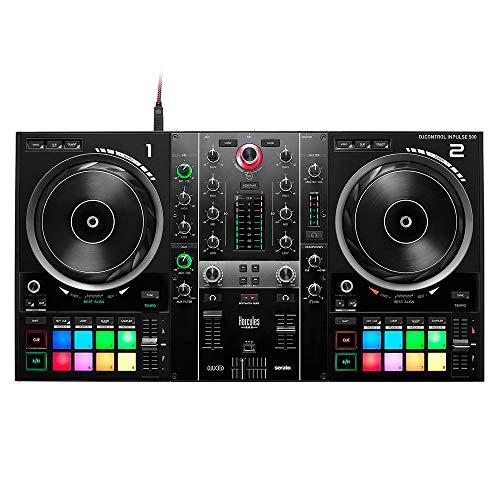 HERCULES DJControl Inpulse 500 controller DJ a 2 posti, Beatmatch Guide, IMA, 16 RGB, integrato Scheda sonora/mixer, Mic-In, DJ Academy, DJUCED & Serato DJ Lite, PC/Mac