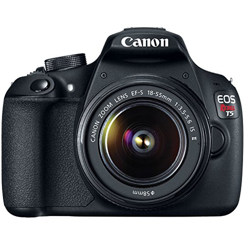 Canon EOS Rebel T5 Digital SLR Camera Kit with EF-S 18-55mm...