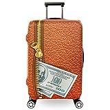 Funda protectora de la caja del carro Durable 3D Cremallera Imprimir Viaje Elástico Spandex Protector de maleta Cubierta de equipaje a prueba de polvo Mantenga el equipaje limpio Se adapta al equipaje