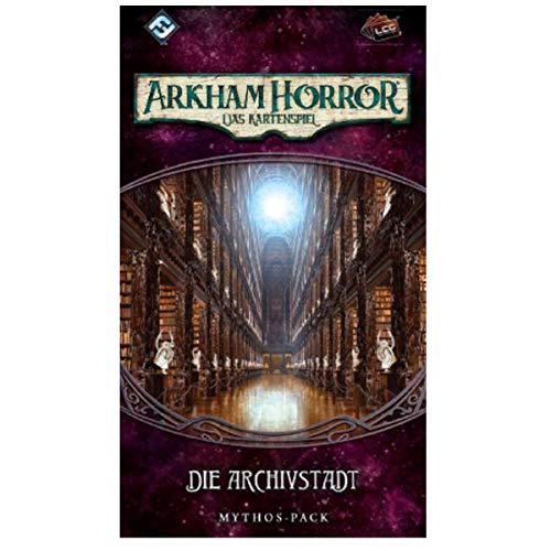 Asmodee FFGD1122 Arkham Horror: LCG-Die Archivstadt Mythos-Pack (Vergessene-Zeitalter-4), Living Card Game