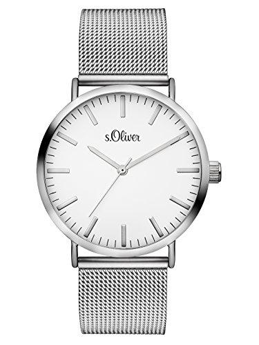 S.Oliver Damen Analog Quarz Armbanduhr SO-3145-MQ