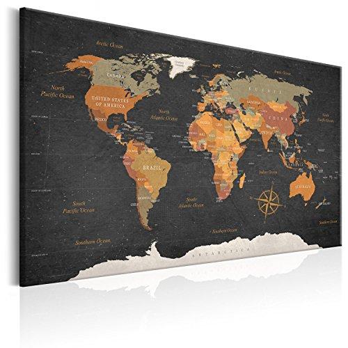 murando Carte du Monde 120x80 cm Tableau en Liège & Tableau sur Toile...