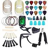 Bosunny Kit D'accessoires pour Guitare 60 PCS comprenant des médiator,un...