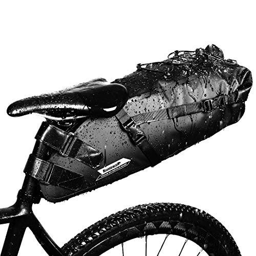 GARDOM Bolsa de Sillín Bici 10L Bolsa Bicicleta Impermeable Ajustable...