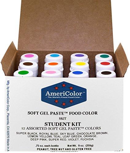 Food Coloring AmeriColor 12 .75 Ounce Bottles Soft Gel Paste Colors
