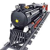 FZC-YM 536 Piezas Moc Juego de vías de Tren City Railway Tren de Vapor Modelo de Bloque de construcción de Juguete para niños Adultos, Juego de Bloques de construcción de Tren de la Ciudad