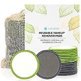 Cotons Demaquillants Lavables 20 Pcs, Luxureal Tampons Démaquillants Reutilisables en Bio Bamboo...