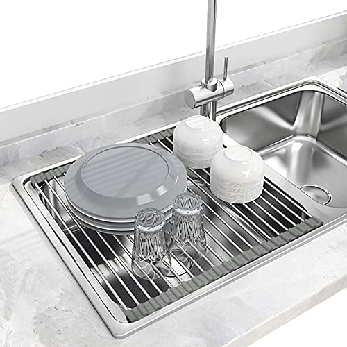 Seropy Roll Up Dish Drying Rack Over the Sink for Kitchen RV Sink...