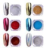 6 colores de Polvo Acrílico Para Uñas Colores Esmalte