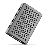 COMISO Mini Portable IPX7 Waterproof Bluetooth Speakers with 5W Enhanced Bass Up to 8 Hours Playtime for Outdoor Activities, Bathroom, Hiking, Biking, Pool-Grey
