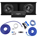 Skar Audio Dual 10' Complete 2,400 Watt SDR Series Subwoofer Bass Package - Includes Loaded Enclosure with Amplifier
