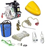 Portable Winch PCW5000 Gas-Powered Capstan Pulling Winch with PCA-1290-K Skidding Cone Kit for ATVs (Bundle, 2 Items)