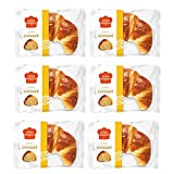 Oven Delights Bakehouse Classic Croissant, Buttery, flaky, yeasty that it will make your morning breakfast much more delicious. (85gm)(Pack of 6)